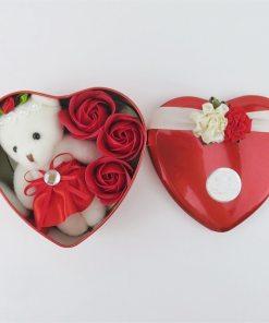 Hot sale Stuffed Animal toys cartoon Teddy Bear plush Doll Heart Shaped gift box Romantic Wedding