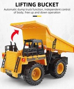 OCDAY RC Truck  G CH Remote Control Alloy Dump Truck Big Dump Truck Engineering Vehicles
