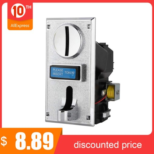 Multi Coin Acceptor Electronic Roll Down Coin Acceptor Selector Mechanism Vending Machine Mech Arcade Game Ticket