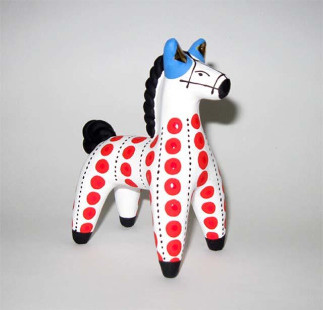 Картинка лошадь дымковская игрушка