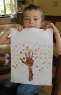 handprint tree, fall tree craft, fall craft for kids