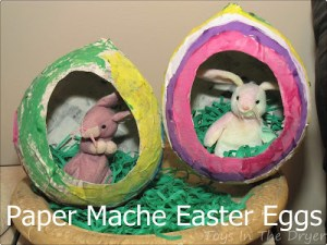 Paper Mache Easter Eggs