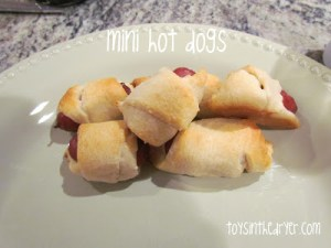 whats for dinner, what to make for dinner, weeknight fast meals, mini hot dogs, croissant recipes