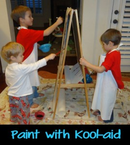 Kool-Aid, painting, painting with kool-aid, activities for kids,