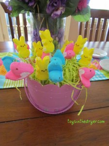 Easter, Easter baskets, Peeps, Peeps treats, Peeps crafts