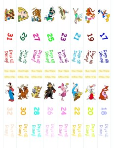 Disney Countdonw Chain 1.13(1) 3