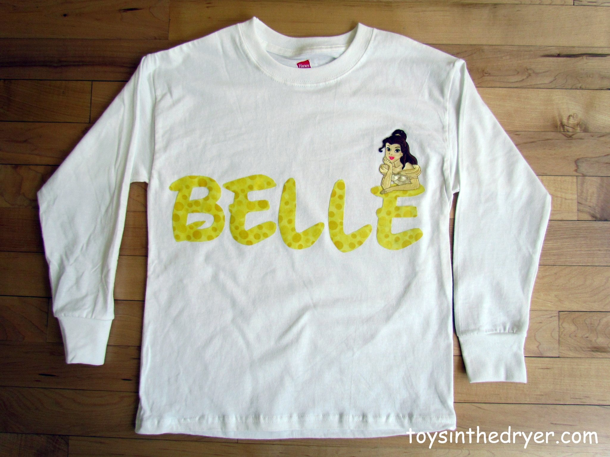 Make your own character applique shirts