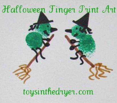 Halloween, Fingerprint, Fingerprint Art, Halloween Art