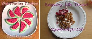 watermellon-cookies raspberry dessert