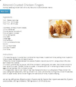 almond crusted chicken finger recipe