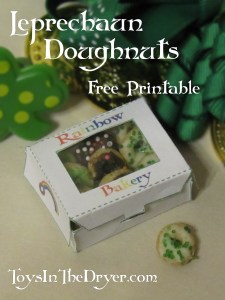 leprechaun doughnuts free printable