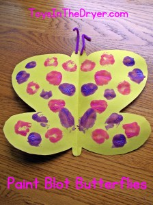 Paint Blot Butterflies