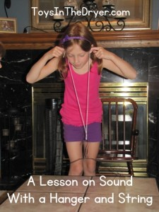 A Lesson on Sound Waves With Hanger and String