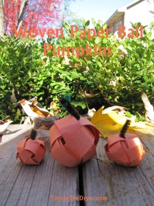 How To Make Woven Paper Ball Pumpkins