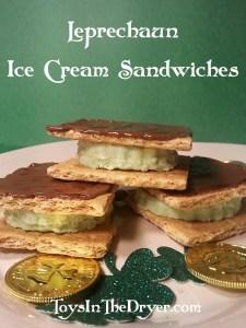 Leprechaun Ice Cream Sandwiches