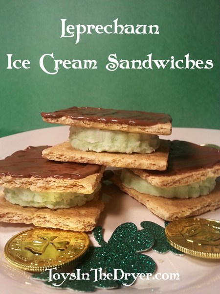Leprechaun Ice Cream Sandwiches