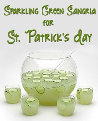 Sparkling Green Sangria for St. Patrick's Day