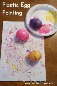 Plastic Egg Spin Art