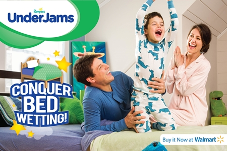 Pampers UnderJams Bed wettig