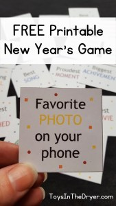 free printable New Year's game