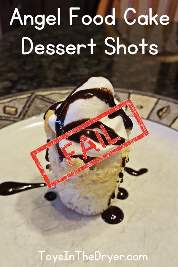 angel food cake shot glass dessert