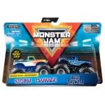 Monster Jam 2 Pack Storm Damage Vs Blue Thunder Toys N Tuck