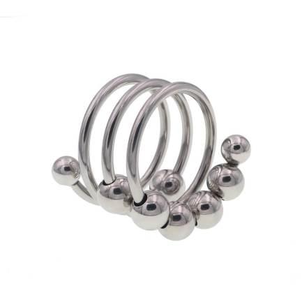 八珠陰莖環40毫米 –  銀色滑球款