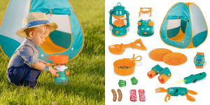Kids Pop-up Play Tent with Pretend Camping Gear