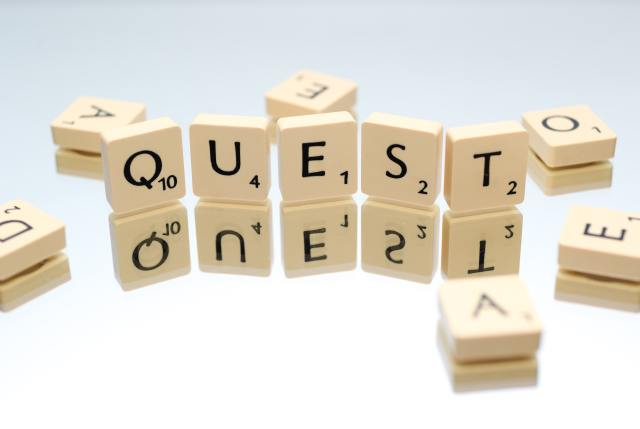 """Scrabble letters spell out """"quest"""". Vocabulary is one of the key indicators of intellect. Give your child the power of words through fun vocabulary activities."""