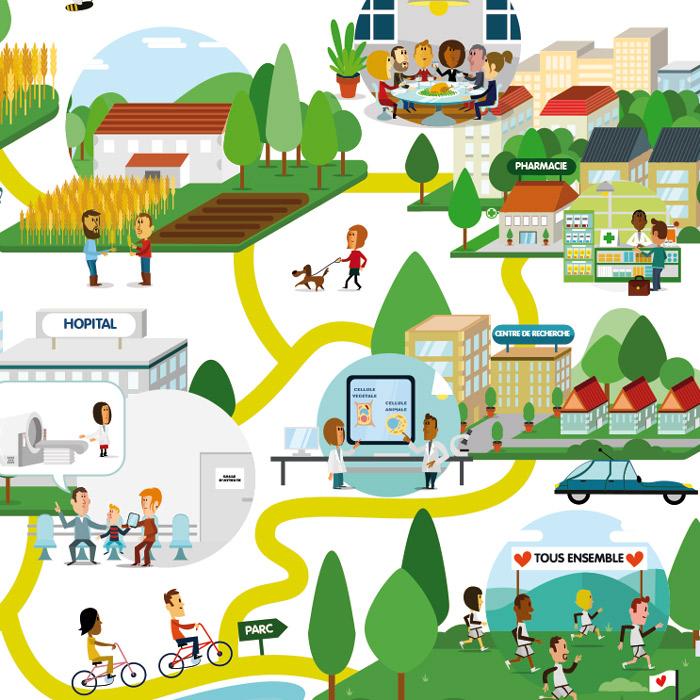 illustration vectorielle d'une ville
