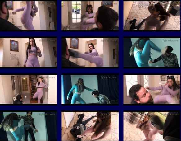 """Action Movie """"Double Trouble"""" featuring kicking goddess Alicia, when women fight men and beat them to a pulp ! Girl vs boy at its finest ! Check it out at tozani.net, home of mixed fighting and POV fighting !"""