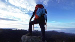 登山,行動,食