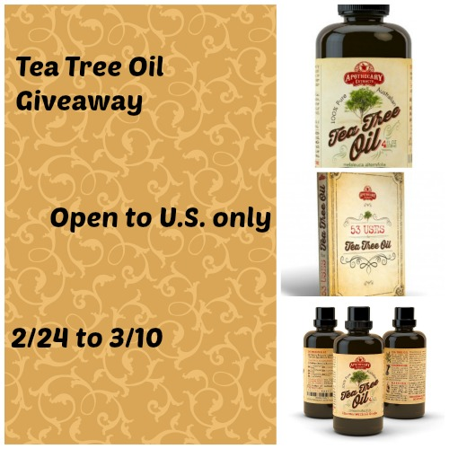 Tea Tree Oil Giveaway