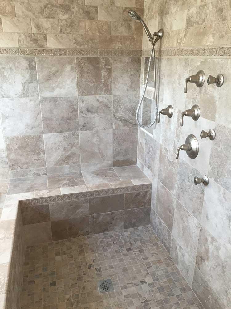 custom shower pan shower base