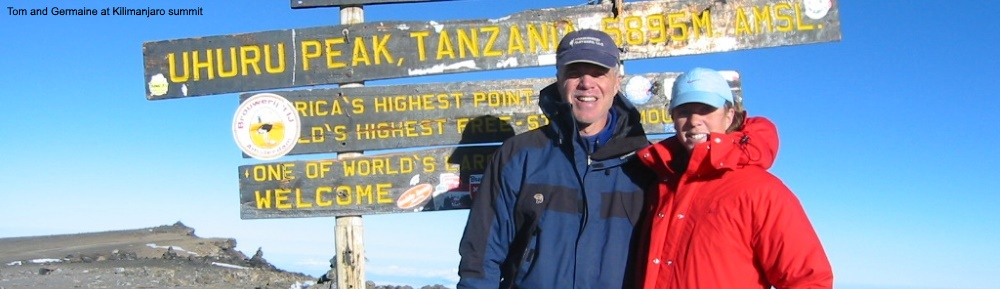 Tom Dougherty and Germaine at Kili summit