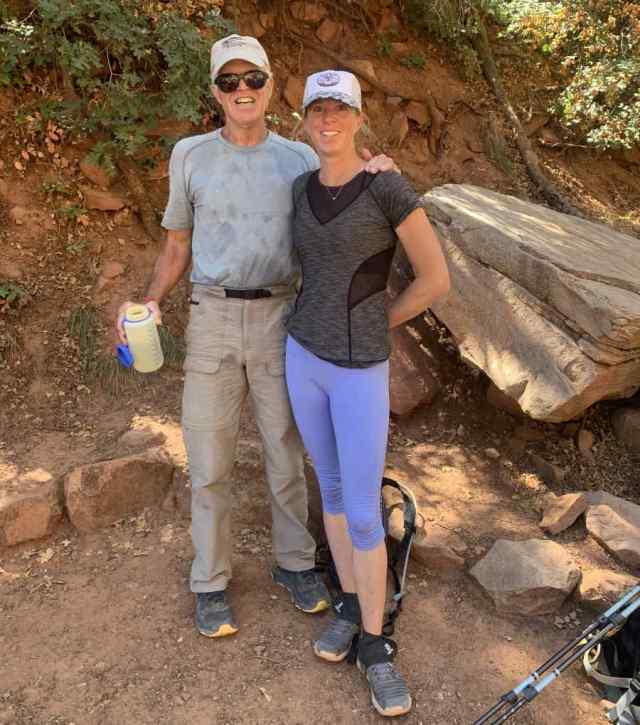 Tom and Germaine at Supai