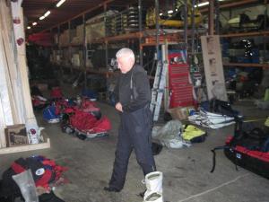 Miroslav in hangar