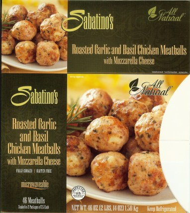 F&S Gourmet Foods / Sabatino's  - Roasted Garlic Meatballs