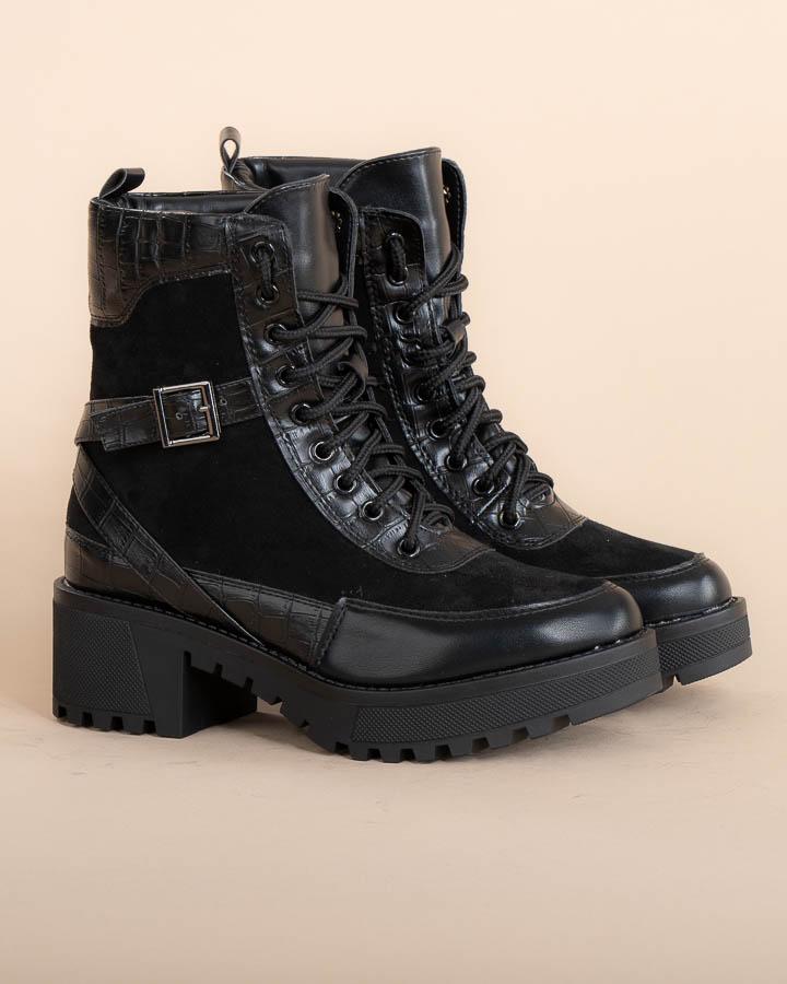 Boots femme noires montantes