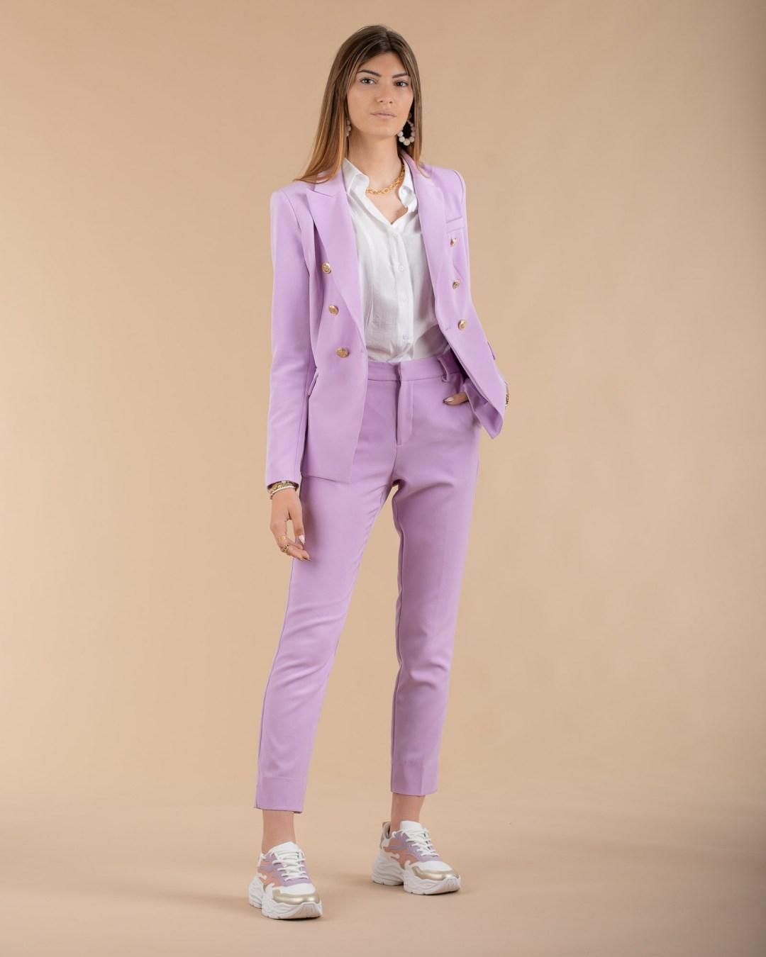 Pantalon couleur lilas pour femme