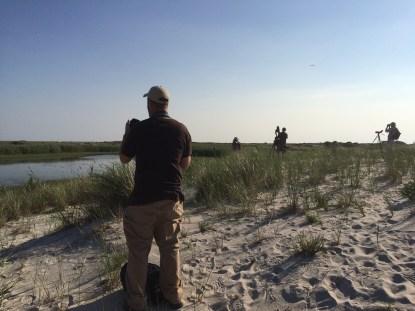 Happy birders at Jones Beach