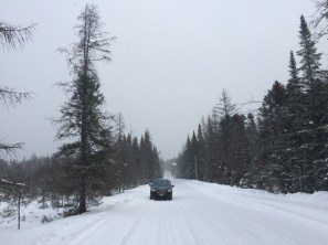 Circle Road in the snow