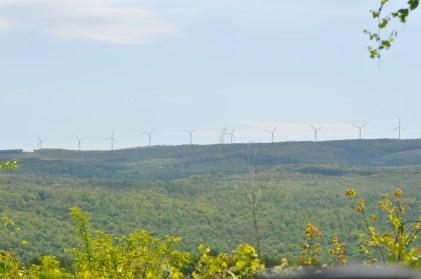 Wind along the ridge