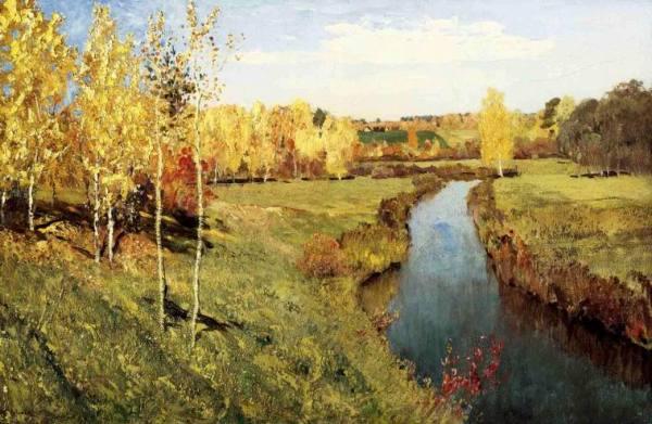 Золотая осень. Исаак Левитан. Картина, осенний пейзаж ...