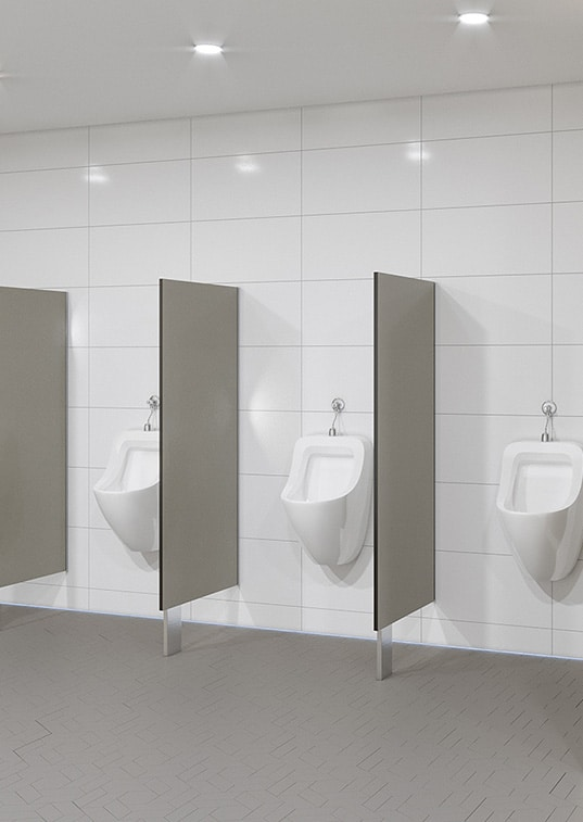 Urinal Privacy Screen Blade Mounted Toilet