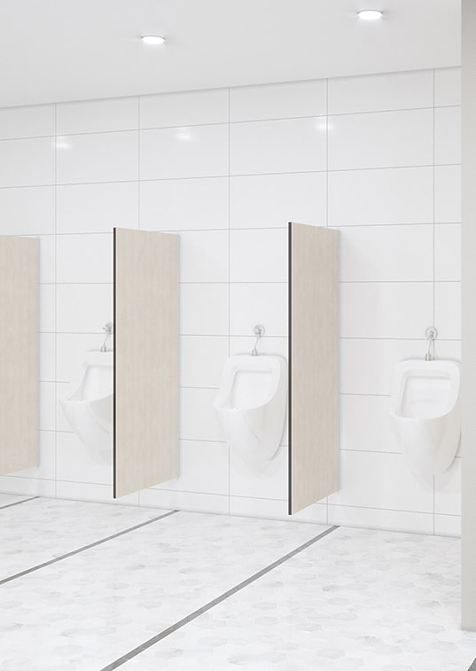 Urinal Privacy Screen Wall Mounted Toilet Partitions