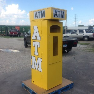 TPI Outdoor ATM Security Kiosk Enclosure in Yellow - Universal w