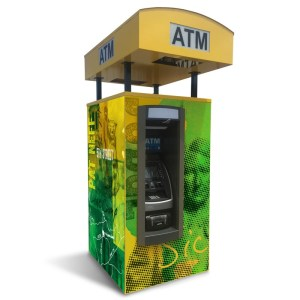 Universal Drive-up ATM Kiosk Enclosure Back Graphic Panel