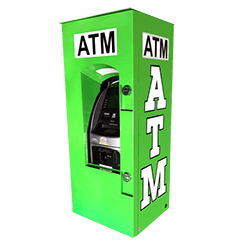 Outdoor Universal ATM Security Enclosure with Integrated Topper