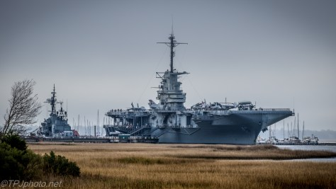 USS Yorktown On A Cloudy Day - Click To Enlarge